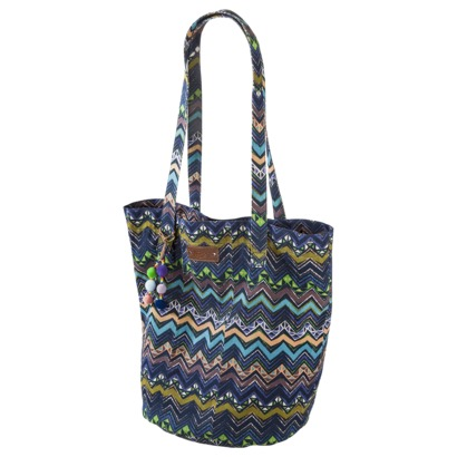 beach bag zig-zag stripe