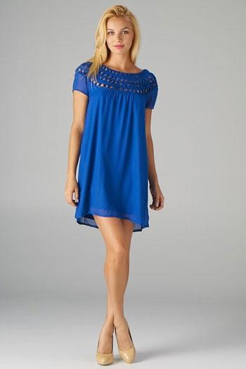 blue weave dress