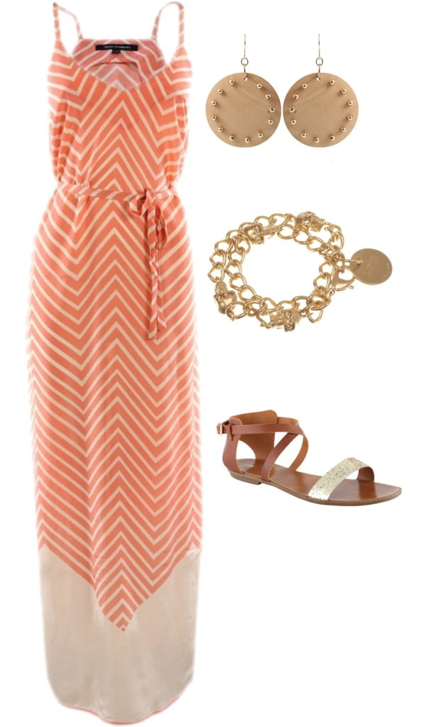 orange chevron sundress