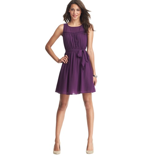 ruffle yoke dress
