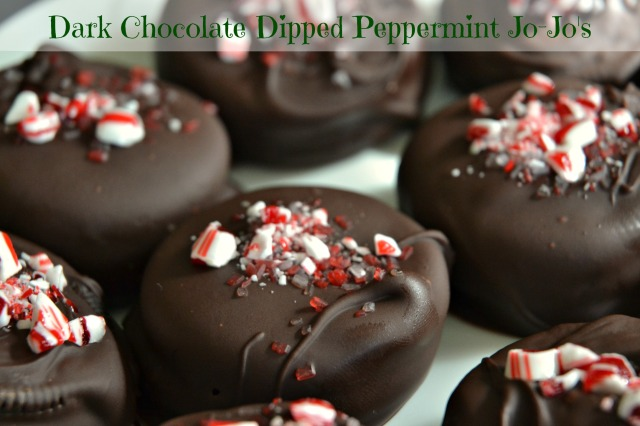 Dark Chocolate Dipped Peppermint Jo-Jo's 1