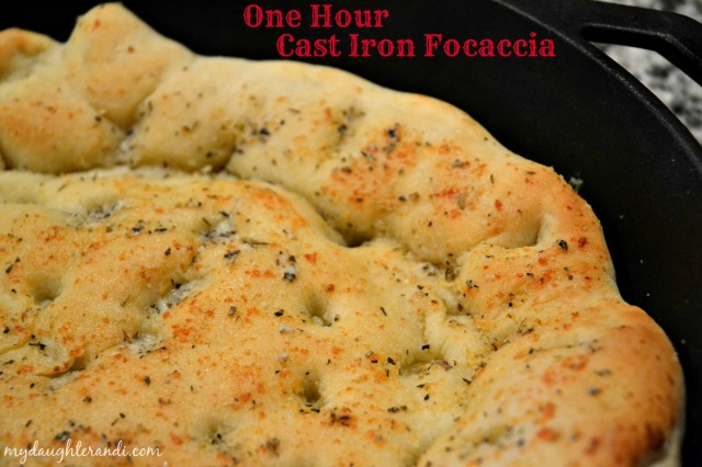 cast iron focaccia bread 1 edited