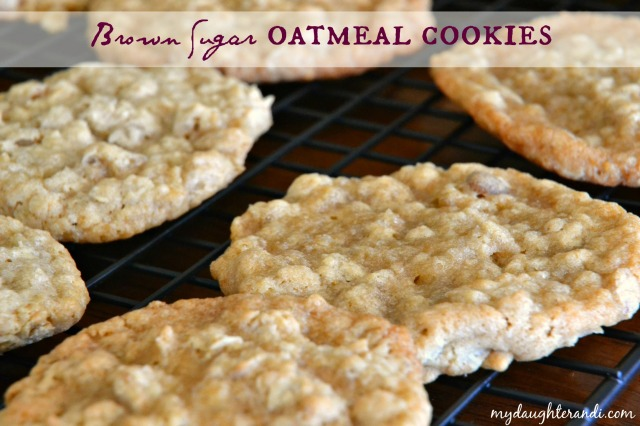 My Daughter and I Brown Sugar Oatmeal Cookies 1