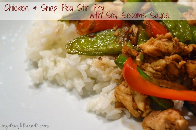 Chicken and Snap Pea Stir Fry 1 - My Daughter and I
