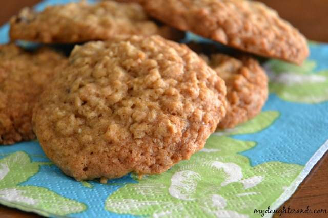 Oatmeal Raisin Cookies 2 - My Daughter and I