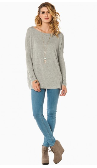 cozy long sleeve top