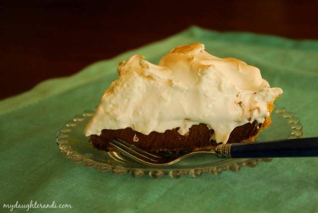 Smores Pie 1 - my daughter and I