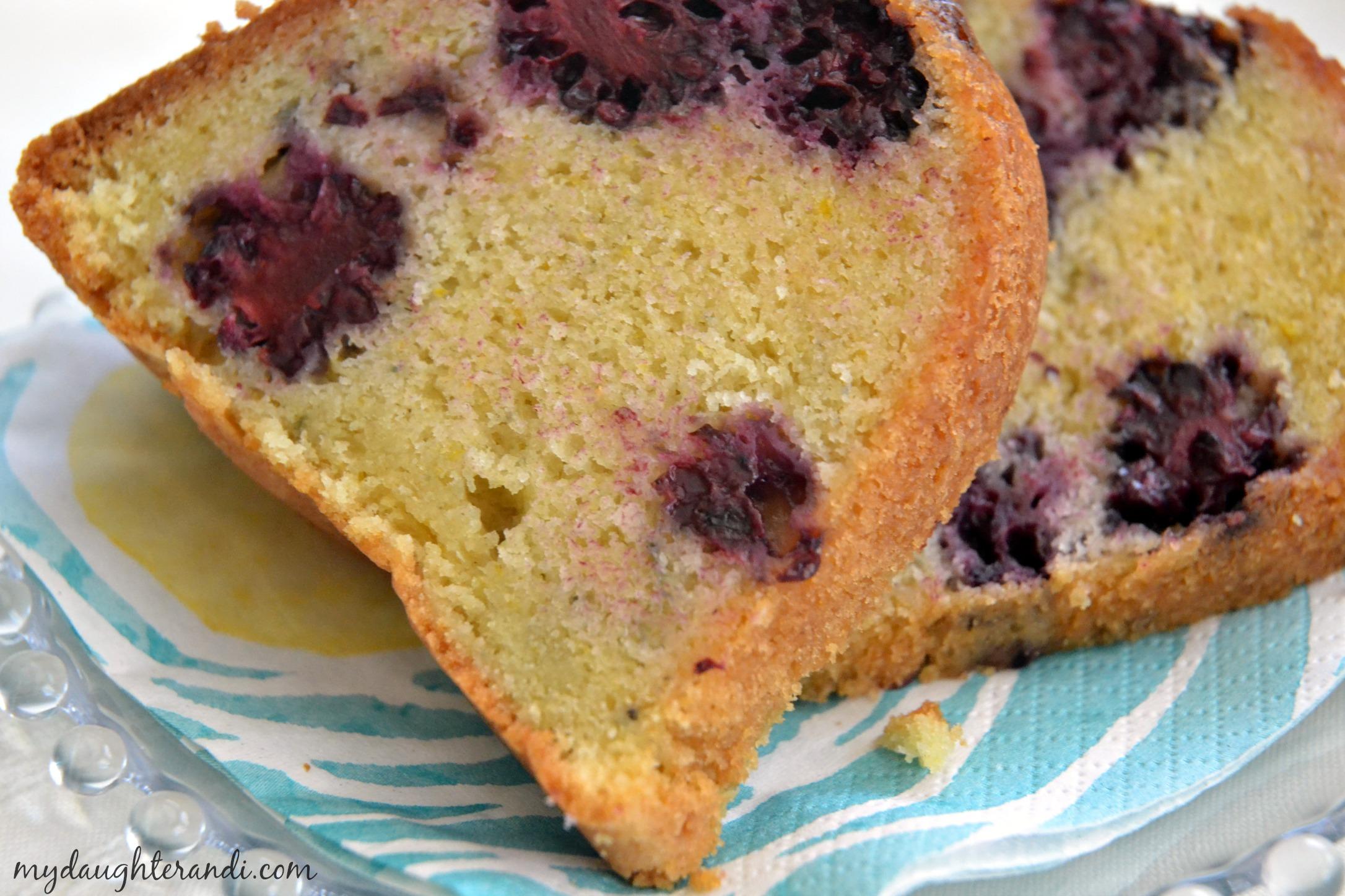 Blackberry Lemon Sour Cream Bundt Cake