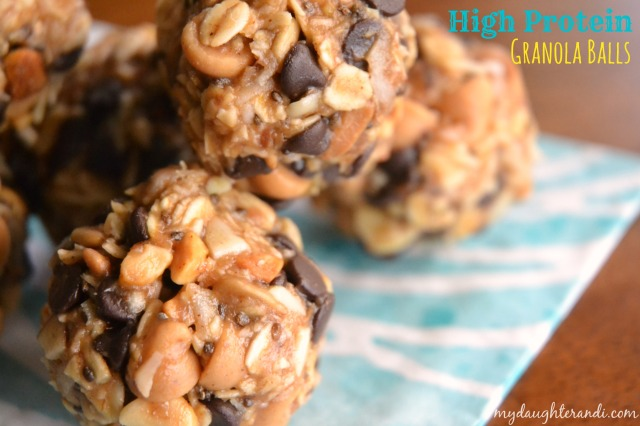 High Protein Granola Balls 1 - My Daughter and I