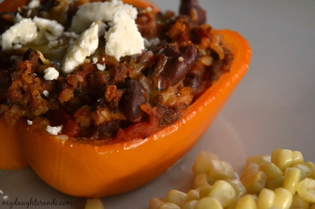 Colorful Stuffed Bell Peppers 2- My Daughter and I