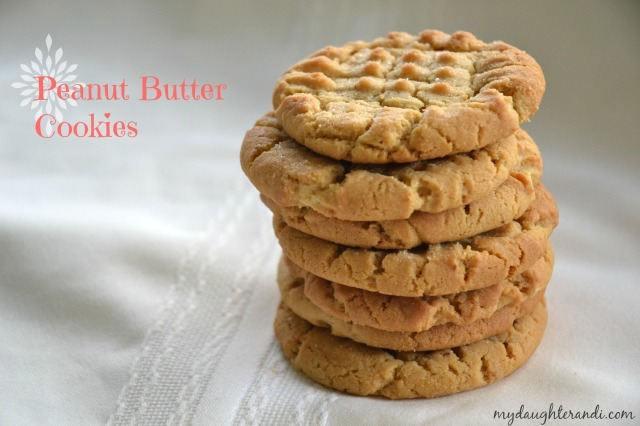 My Daughter and I- Peanut Butter Cookies 1