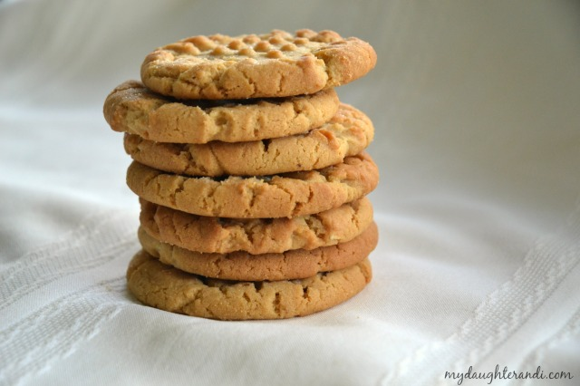 My Daughter and I- Peanut Butter Cookies 2