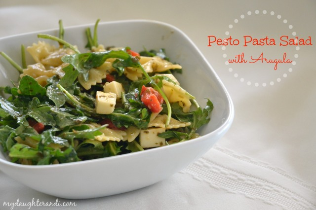 My Daughter and I Pesto Pasta Salad with Arugula 1