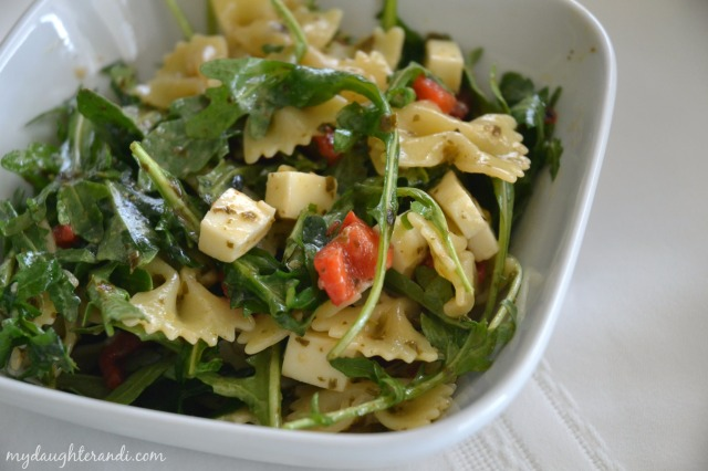 My Daughter and I Pesto Pasta Salad with Arugula 2