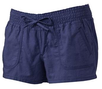 smocked linen shorts