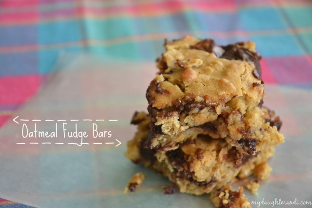 My Daughter and I- Oatmeal Fudge Bars