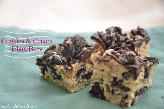 My Daughter and I- Cookies and Cream Chex Bars