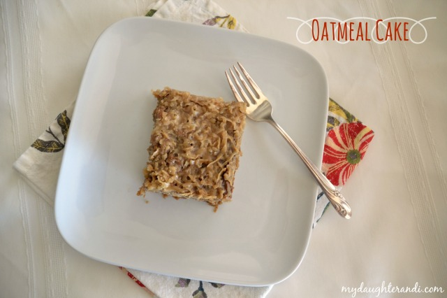 My Daughter and I- Oatmeal Cake