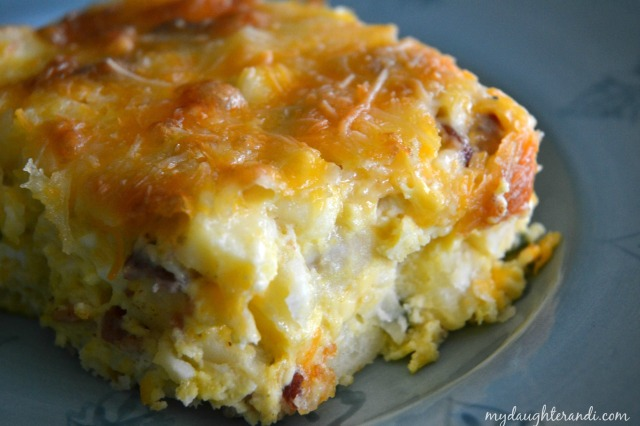 My Daughter and I- Christmas Morning Breakfast Casserole- Click through for full recipe! 1