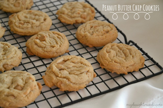 My Daughter and I- Peanut Butter Chip Cookies