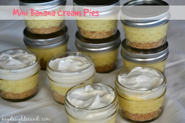 My Daughter and I- Mini Banana Cream Pies