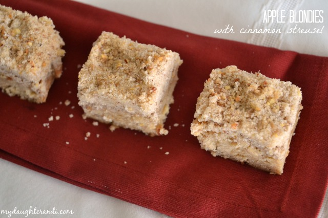 My Daughter and I- Apple Blondies with Cinnamon Streusel 1