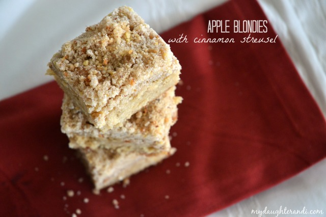 My Daughter and I- Apple Blondies with Cinnamon Streusel 3