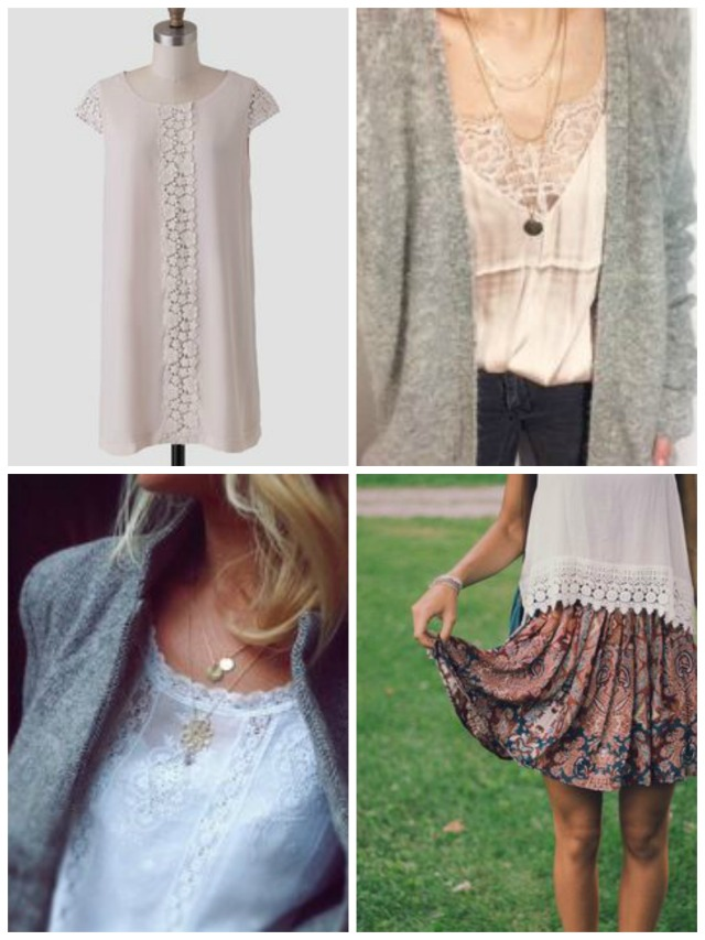 My Daughter and I- Fashion Friday- Inspiration- Crochet and Lace
