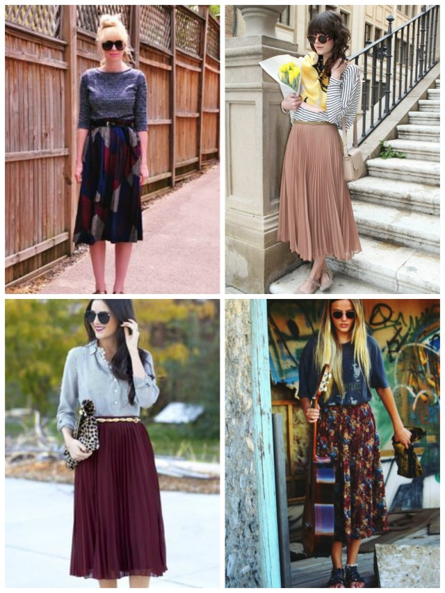 My Daughter and I- Fashion Friday- Inspiration- Pleated Skirts
