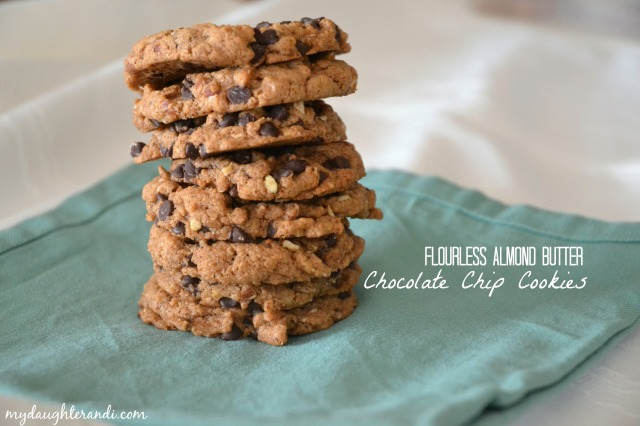 My Daughter and I Flourless Almond Butter Chocolate Chip Cookies 1