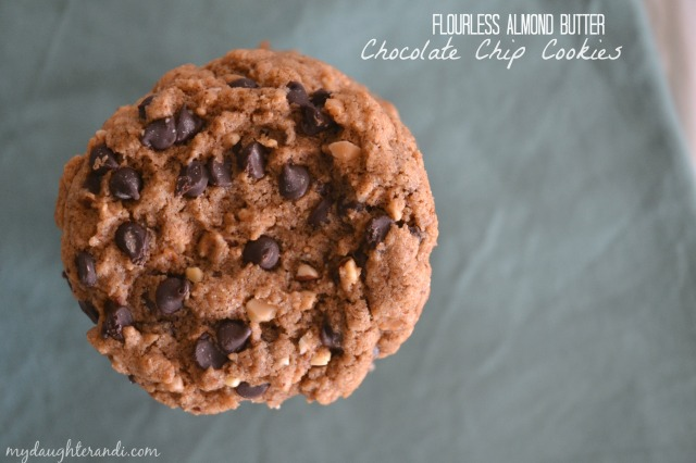 My Daughter and I Flourless Almond Butter Chocolate Chip Cookies