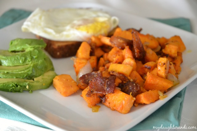 My Daughter and I- Sweet Potato Hash 1